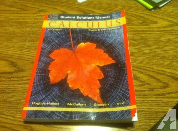 Calculus student solution 6th Edition