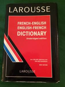 LAROUSSE FRENCH-ENGLISH / ENGLISH-FRENCH DICTIONERY (East Village)