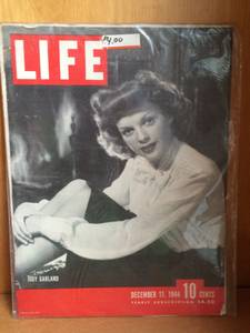 Life Magazine cover - Judy Garland - December 1944 (Montrose and Western)