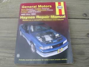 HAYNES REPAIR MANUAL GENERAL MOTORS 1982 thru 1994 (Lancaster)