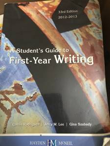A students guide to first-year writing: 33rd edition (ua)