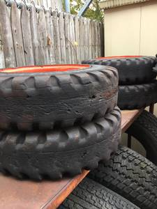 BOBCAT S70/463 FOAM FILLED RIMS AND TIRES (Staten Island)