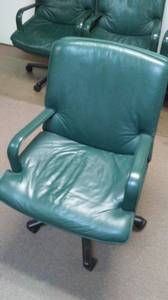 Moving Sale! Six Top Quality Leather Conference Chairs (Garland)