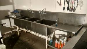 semi-trailer,grease trap, wood horse, triple sink (Pigeon Forge)