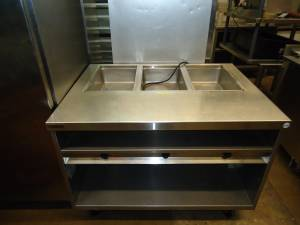 We Buy Used Restaurant Equipment-Randell 3 Hole Steamtable (west st paul)