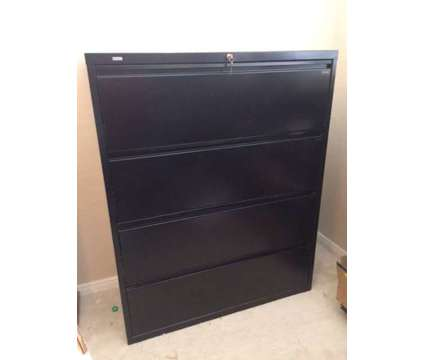 WorkPro steel filing cabinet (black - new condition)