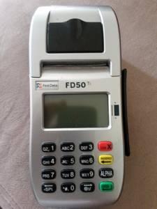 First Data FD50Ti Dual Comm credit card machine (KENT)
