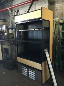 4 ft open case refrigerator (restaurant Equipment)