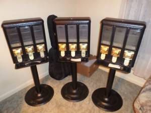 3 Seaga Candy Machines Excellent Condition