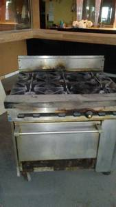 Commercal grade Gas stove (Rock Island)