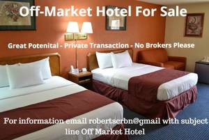 Hotel For Sale: off-market