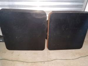 Used Restaurant Black Laminate Wood Cafe Bar Table Tops (Cannon Falls)