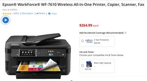 NEW Epson WorkForce WF-7610 Wireless All-In-One Printer (oahu)