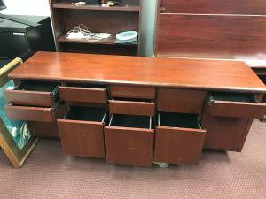 Sturdy Heavy 12 Drawer Wooden Credenza - Reduced Price! (Marietta)