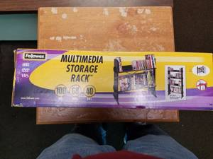 DVD cd media storage rack (Logan Square)