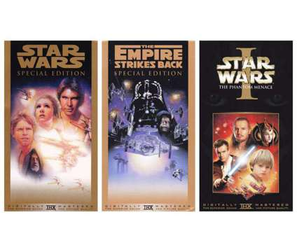 Vintage STAR WARS VHS: 3 Tape SET