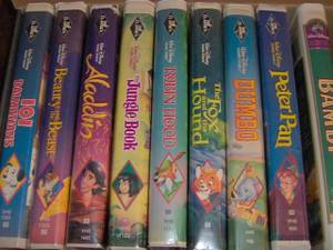 Disney videos (Black Diamond Editions) Lot of 8 (Lansdale)