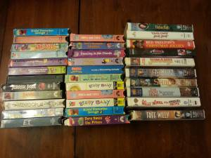 33 VHS Tapes with VCR (mostly kids titles) (Montoursville)