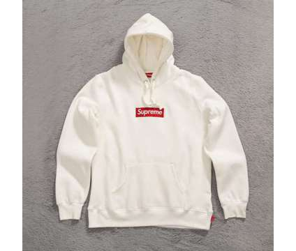 Supreme Box Logo Hoodie White Size Medium 100% Authentic