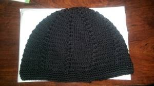 New Mens Knitted Skull Cap Kufi Beanie Hat - Black (Fort Washington)