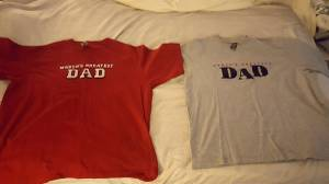 DAD T-Shirts, Size XL, $8 for Both (King of Prussia)