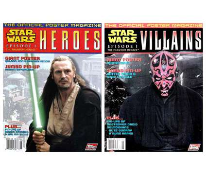 STAR WARS Episode 1: VILLAINS/HEROES Official Poster Magazine Set