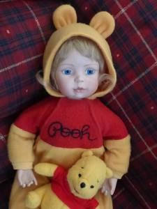 Porcelain Doll Winnie the Pooh (Burlington)