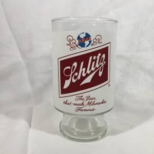 Vintage 1970s SCHLITZ BEER Glass Giant 32oz Famous Milwaukee Beer (Upper East