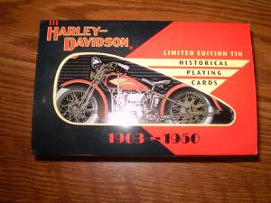 Harley Davidson Playing Cards in Tin 1997 (Cheyenne, WY)
