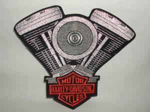 Harley Davidson V-Twin PATCH, embroidered, offical licensed