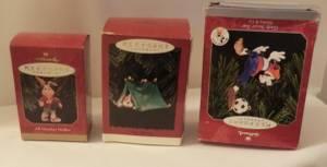 Hallmark Keepsake Ornaments 3 boxes New (Lincoln)