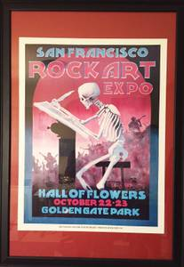 1994 San Francisco Rock Art Expo Poster - Signed by Mouse (Seattle)
