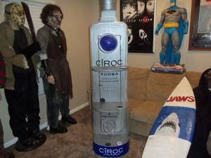 Life size 6 ft Ciroc Liquor Bottle Shelf RARE man cave collectible (Greenwood)
