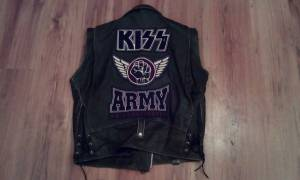 Vintage KISS ARMY leather vest 2XL (Nineveh)