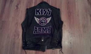 Vintage KISS ARMY leather vest 2XL (Nineveh)