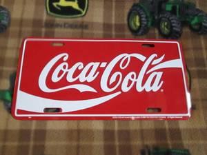 Coca-Cola License Plate (Clinton,WI)