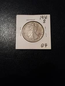 First-year 1916-S Solid G4 Half (RTP/Brier Breek)