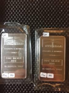 10oz Silver .999 fine bar (Beloit)