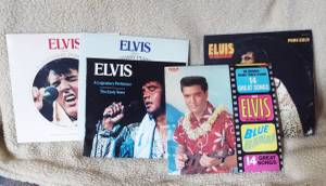 Four Elvis records (Mesquite)