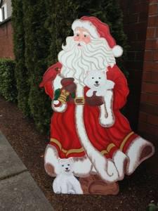 Christmas Victorian Santa 5 1/2 ft - Wooden Cut Out (DesMoines/S.Seattle)
