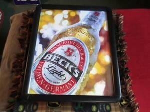 Beck's Light Beer Sign-Light (Clinton,WI)
