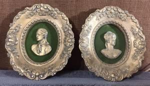 Vintage Victorian Style Plaster Plaques (Farmington)