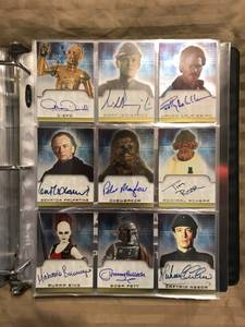 13 Star Wars Non-Sport Trading Card Master Sets (Alexandria)