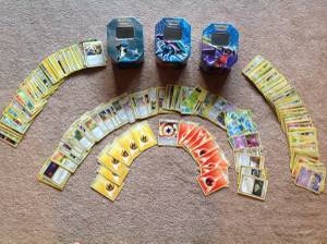 Pokemon Trading Cards and Tins