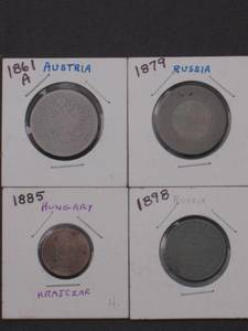4 Coins from the 1800's (1861-1879-1885-1898) (Tulsa)