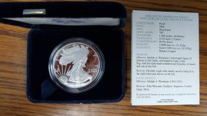 Coins - 2006 W Silver Eagle Proof (Wamego)