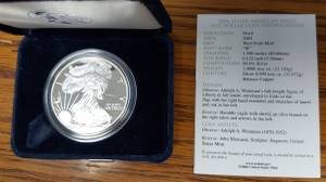 Coins - 2004 W Silver Eagle Proof (Wamego)