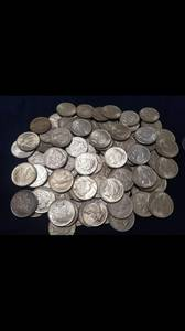 Silver coins (morgans/peace, silver eagles, 90%)