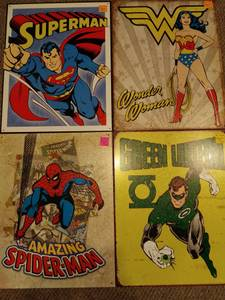 Metal Comic Book Hero Signs (Chamblee)