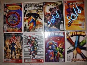 FREE F4 TSHIRT WITH MARVELD.C.comics BATMAN,CAPTAIN AMERICA,TITANS (LOMBARD)